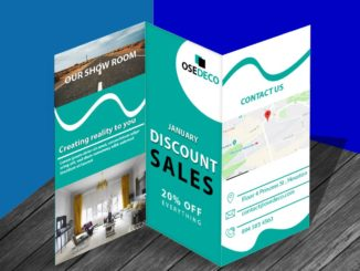 2020 discount brochure template free New Year discount brochure template free new discount brochure design 326x245