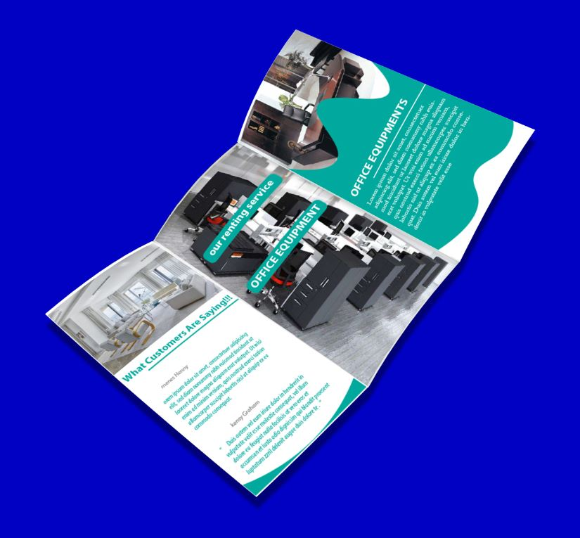 2020 discount brochure template free New Year discount brochure template free trifold template