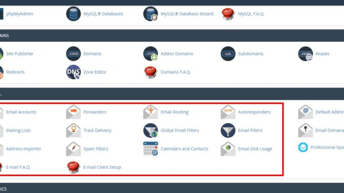 create an email account in cpanel how to create an email account in Cpanel cpanel email 678x381