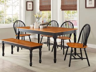 modern dining table set Top 10 modern Dining Table Chairs Autumn Lane 6 Piece Dining Set Black and Oak by Better Homes 326x245
